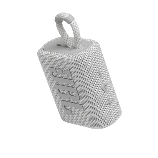 JBL GO 3 - White - Portable Waterproof Speaker - Detailshot 2
