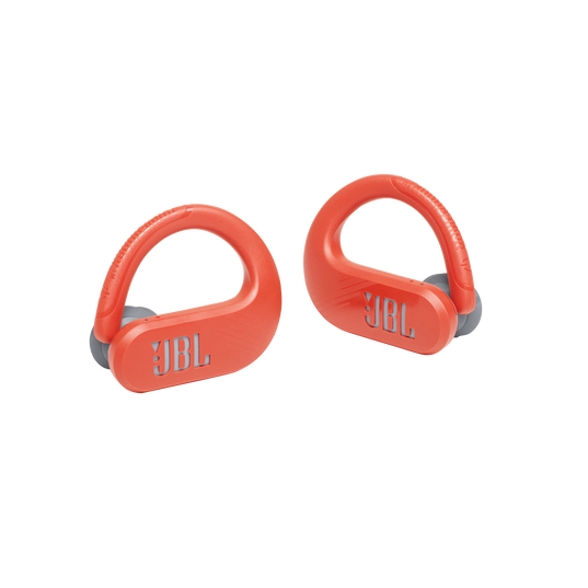 JBL Endurance Peak II - Coral Orange - Waterproof True Wireless In-Ear Sport Headphones - Detailshot 1