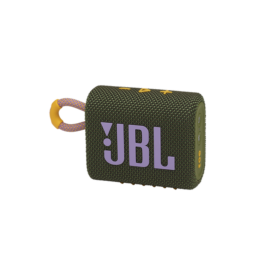 JBL GO 3 - Green - Portable Waterproof Speaker - Hero
