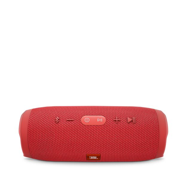 JBL Charge 3 - Red - Full-featured waterproof portable speaker with high-capacity battery to charge your devices - Detailshot 2