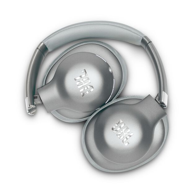 JBL EVEREST™ ELITE 750NC - Silver - Wireless Over-Ear Adaptive Noise Cancelling headphones - Detailshot 1