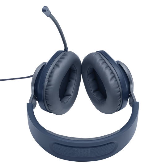 JBL Quantum 100 - Blue - Wired over-ear gaming headset with a detachable mic - Detailshot 5