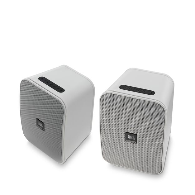 """JBL Control X Wireless - White - 5.25"""" (133mm) Portable Stereo Bluetooth® Speakers - Hero"""