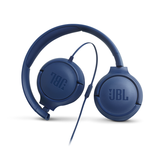 JBL TUNE 500 - Blue - Wired on-ear headphones - Detailshot 4