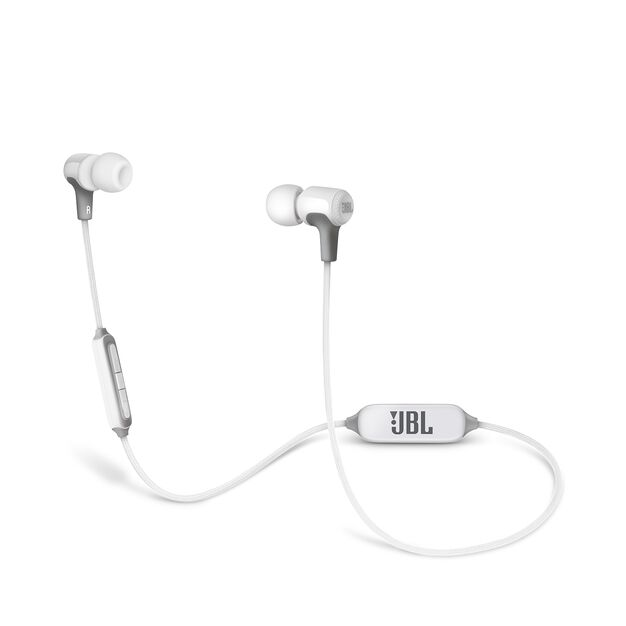 E25BT - White - Wireless in-ear headphones - Hero