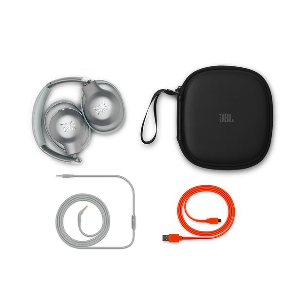 JBL EVEREST™ ELITE 750NC - Silver - Wireless Over-Ear Adaptive Noise Cancelling headphones - Detailshot 2
