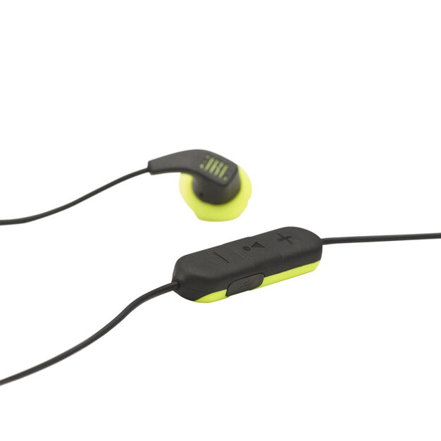 JBL Endurance RUNBT - Green - Sweatproof Wireless In-Ear Sport Headphones - Detailshot 5
