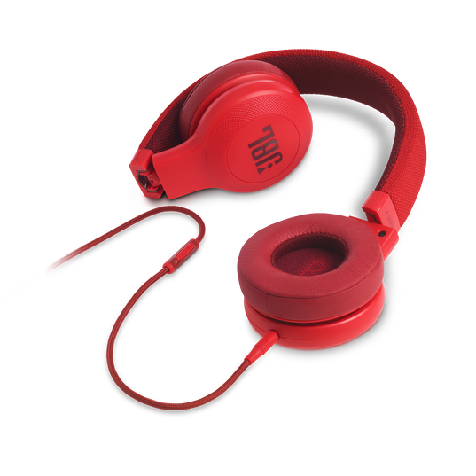 E35 - Red - On-ear headphones - Detailshot 3