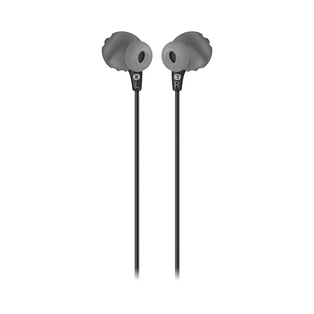 JBL Endurance RUN - Black - Sweatproof Wired Sport In-Ear Headphones - Back
