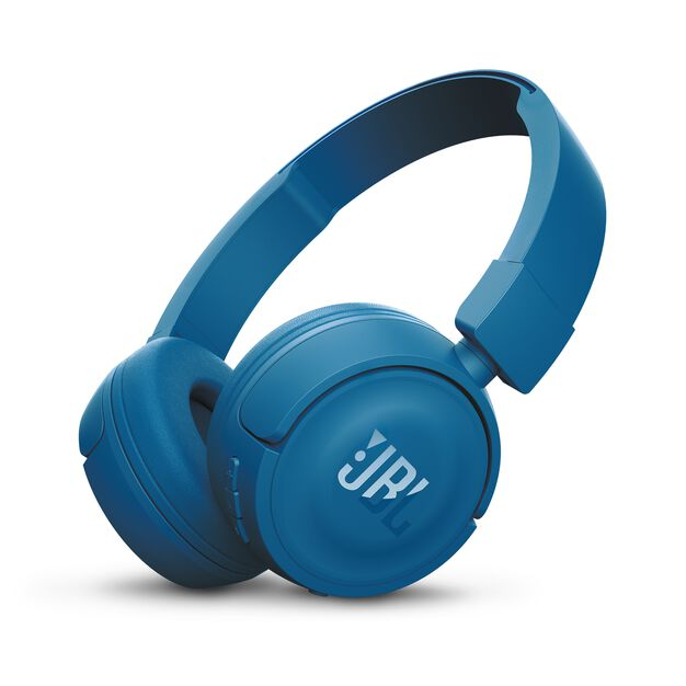 JBL T450BT - Blue - Wireless on-ear headphones - Hero