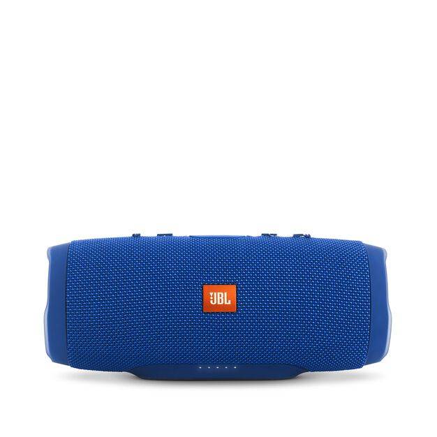 JBL Charge 3 - Blue - Full-featured waterproof portable speaker with high-capacity battery to charge your devices - Front