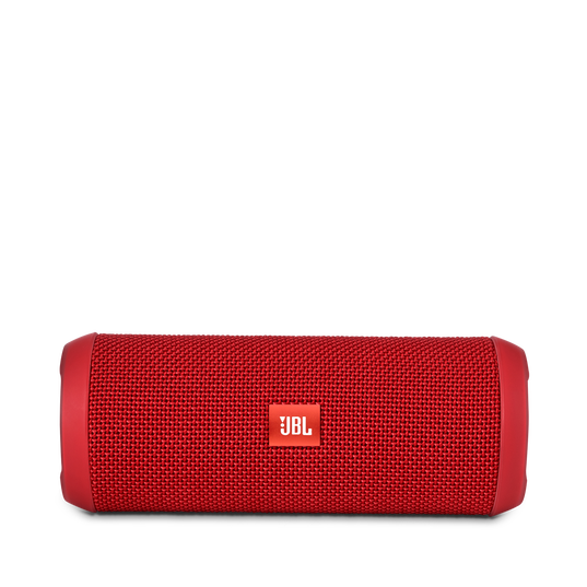 JBL Flip 3 - Red - Splashproof portable Bluetooth speaker with powerful sound and speakerphone technology - Front