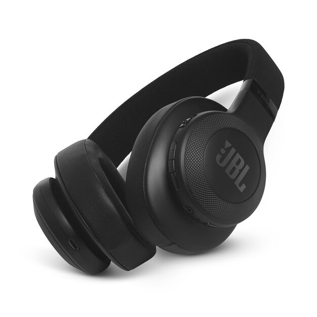 JBL E55BT - Black - Wireless over-ear headphones - Hero