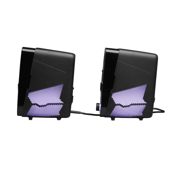 JBL Quantum Duo - Black Matte - PC Gaming Speakers - Left