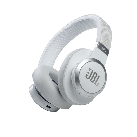JBL Live 660NC - White - WIRELESS OVER-EAR NC HEADPHONES - Hero