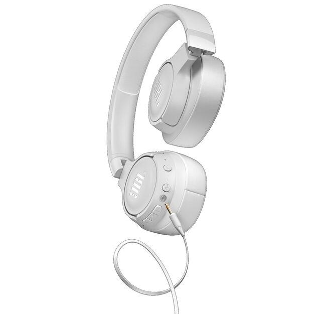 JBL TUNE 750BTNC - White - Wireless Over-Ear ANC Headphones - Detailshot 7