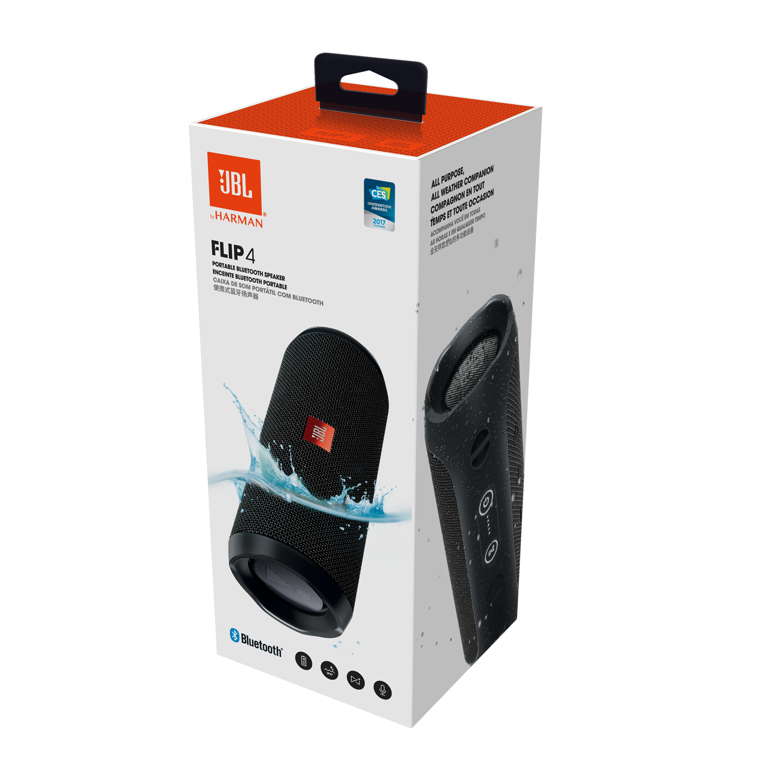 Jbl Flip 4 Tragbarer Bluetooth Lautsprecher